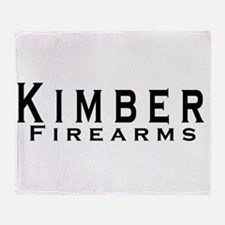 Kimber Firearms Black Font Throw Blanket