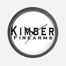 Kimber Firearms Black Font Wall Clock