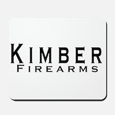 Kimber Firearms Black Font Mousepad