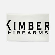 Kimber Firearms Black Font Rectangle Magnet