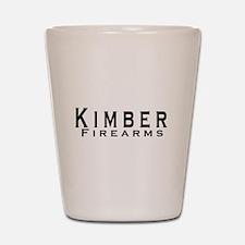 Kimber Firearms Black Font Shot Glass