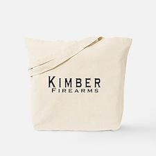 Kimber Firearms Black Font Tote Bag