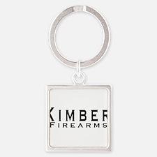 Kimber Firearms Black Font Square Keychain