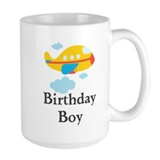 Yellow Airplane Birthday Boy Mug