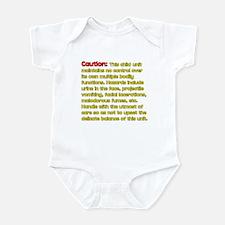 baby disclaimer Infant Bodysuit
