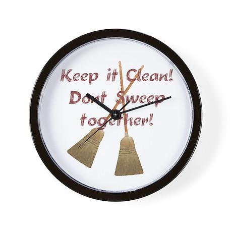 Keep it Clean Wall Clock by gethsemenerose