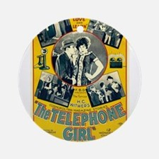the telephone girl Ornament (Round)