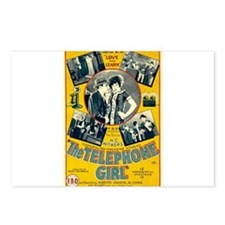 the telephone girl Postcards (Package of 8)
