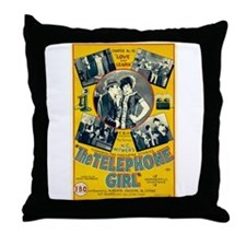 the telephone girl Throw Pillow