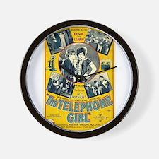 the telephone girl Wall Clock