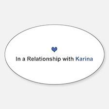 Karina Relationship Oval Decal