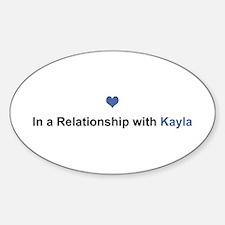 Kayla Relationship Oval Decal