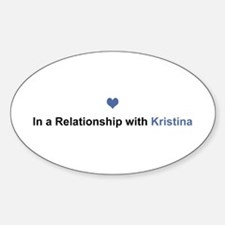 Kristina Relationship Oval Decal