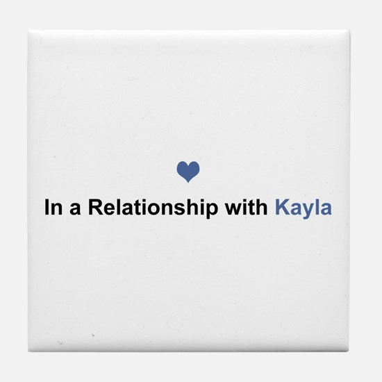 Kayla Relationship Tile Coaster