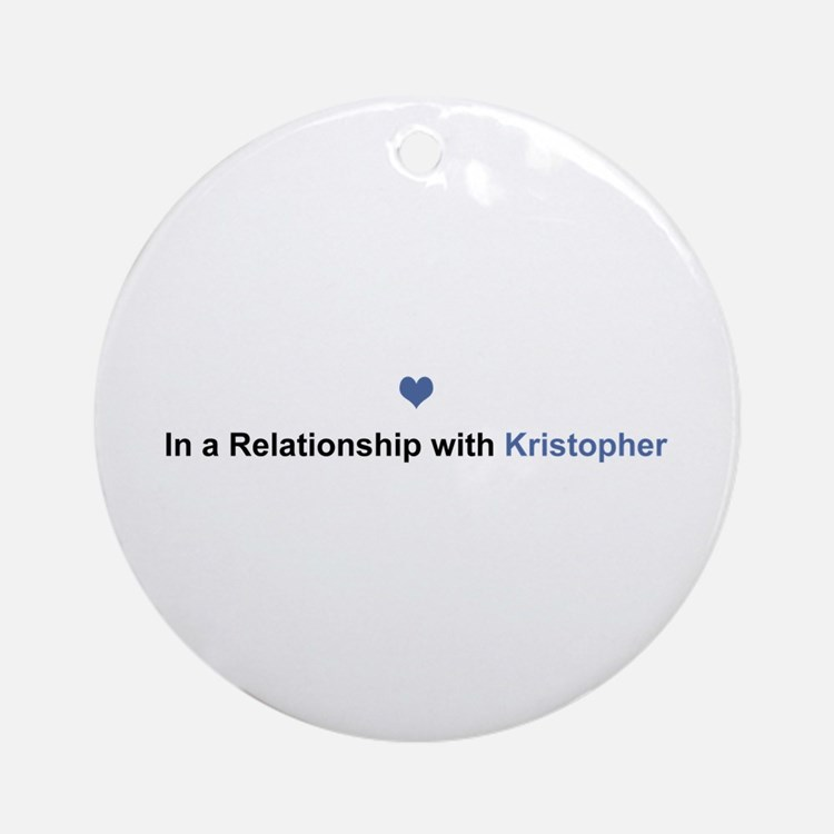Kristopher Relationship Round Ornament