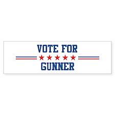 Vote for GUNNER Bumper Bumper Sticker