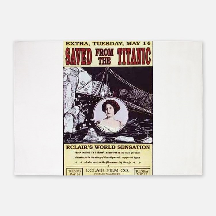 saved from the titanic 5'x7'Area Rug