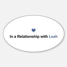Leah Relationship Oval Decal