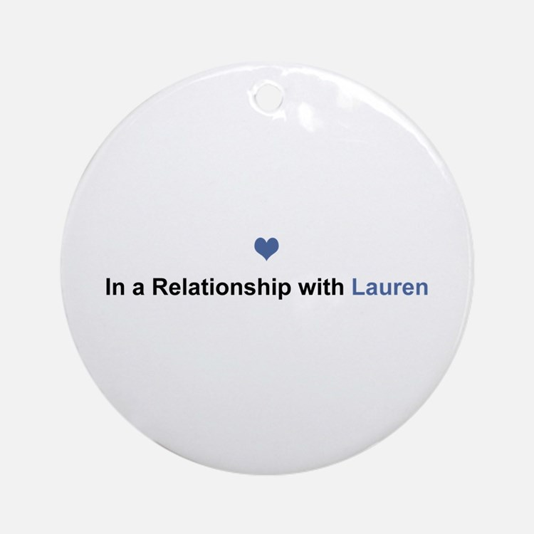 Lauren Relationship Round Ornament