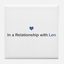 Len Relationship Tile Coaster
