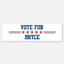 Vote for BRYCE Bumper Car Car Sticker