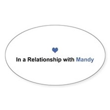 Mandy Relationship Oval Decal