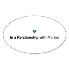 Marlon Relationship Oval Decal