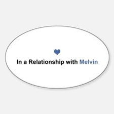 Melvin Relationship Oval Decal