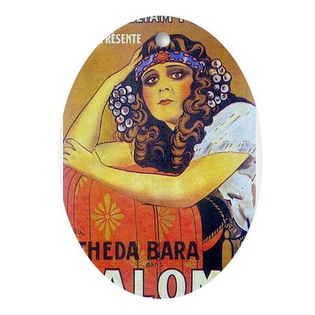 theda bara Ornament (Oval)