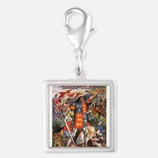 silent movie Silver Square Charm