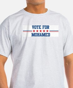 Vote for MOHAMED Ash Grey T-Shirt