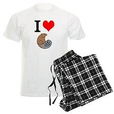 I Love Beaver Pajamas