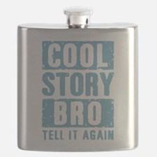 Cool Story Bro [blue] Flask