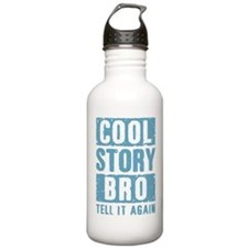 Cool Story Bro [blue] Water Bottle