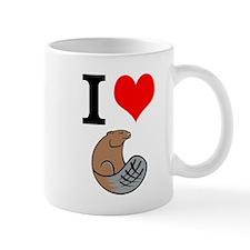 I Love Beaver Mug