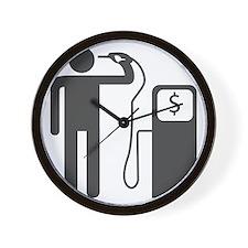 Petrol Gun To The Head Wall Clock