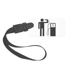 Petrol Gun To The Head Luggage Tag