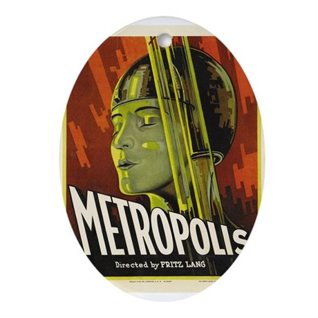 metropolis Ornament (Oval)