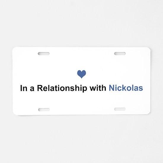 Nickolas Relationship Aluminum License Plate