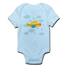 Yellow Airplane in the Clouds Infant Bodysuit