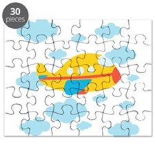 Yellow Airplane in the Clouds Puzzle