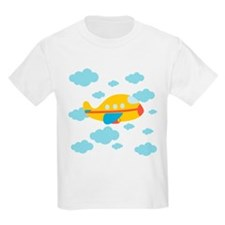 Yellow Airplane in the Clouds T-Shirt