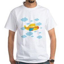 Yellow Airplane in the Clouds Shirt