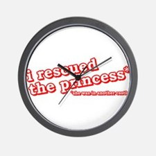 I Rescued The Princess Video Game Shirts Wall Cloc