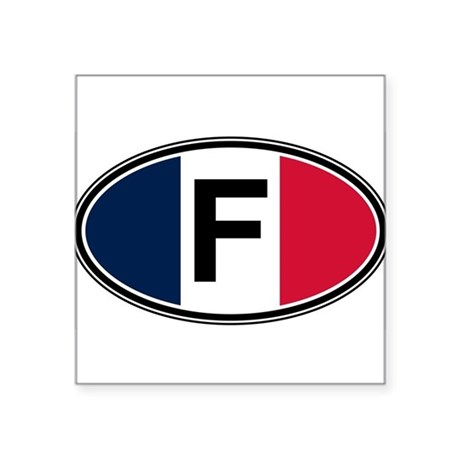 France Euro Oval Sticker