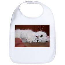 white cat Bib