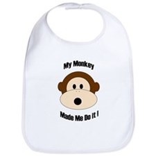 My Monkey Made Me Do It! Bib