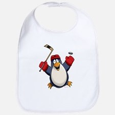Hockey Penguin Bib