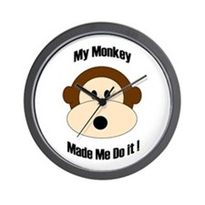 My Monkey Made Me Do It! Wall Clock