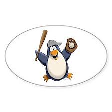Baseball Penguin Decal
